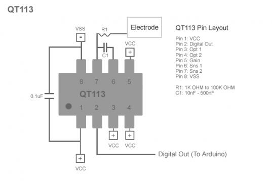 QT113 Pin Layout