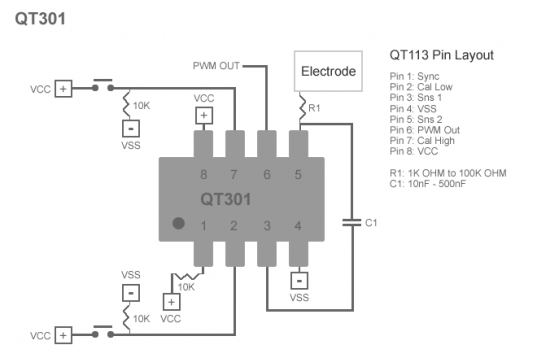 QT301 Pin Layout