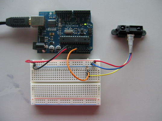 GP2D12 & Arduino