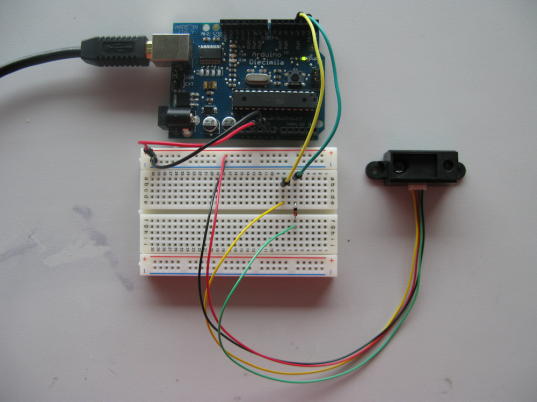 GP2D02 & Arduino